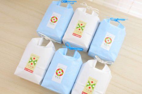 つや姫・雪若丸食べ比べセット 3合(450g)×6袋 令和元年産 - 山形米の専門店 尾形米穀店